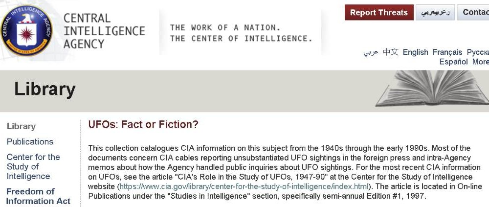 CIA UFO Library – What do they really know?