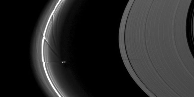 Mysterious Object/Craft Crashes Through Saturns F Ring